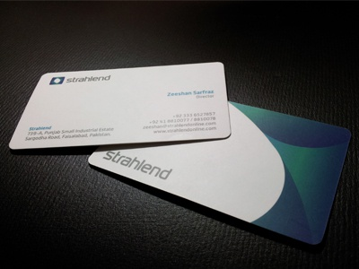 Strahlend business card printed dribbble
