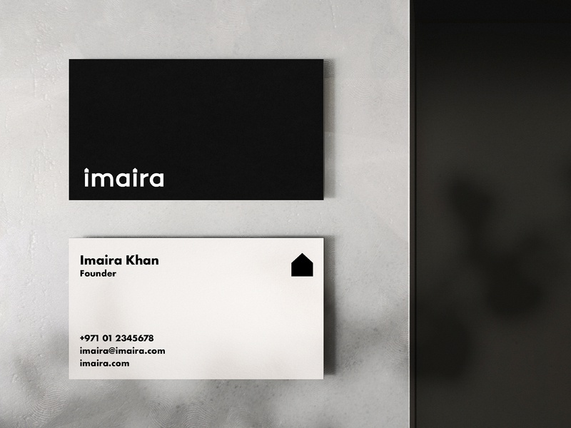 Imaira Business Card business card mockup stationary business card effendy identity ali branding typography lettering logo brand clean minimal home interior designer house wordmark logotype logo designer startup