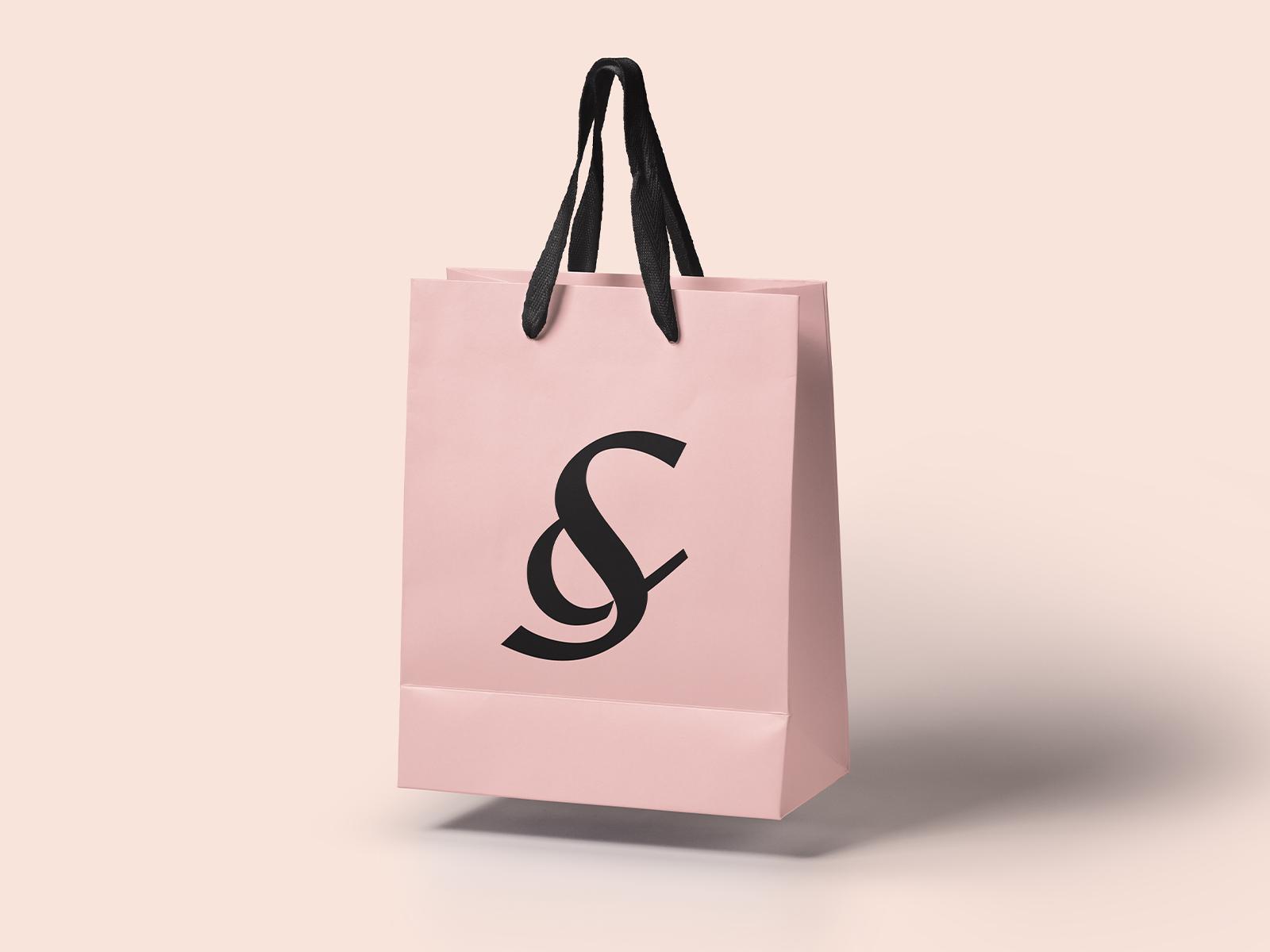 S ampersand shopping bag dribbble