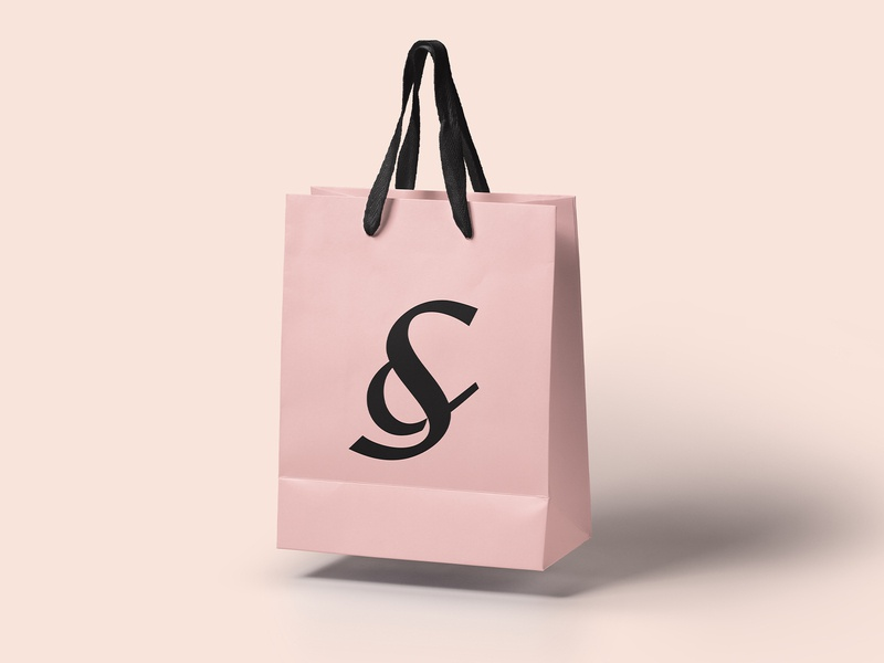 S Ampersand - Shopping Bag stationary shopping bag ampersand s logo cosmetic branding luxury startup mark simple logotype deboss symbol effendy bold typography modern fashion letter s