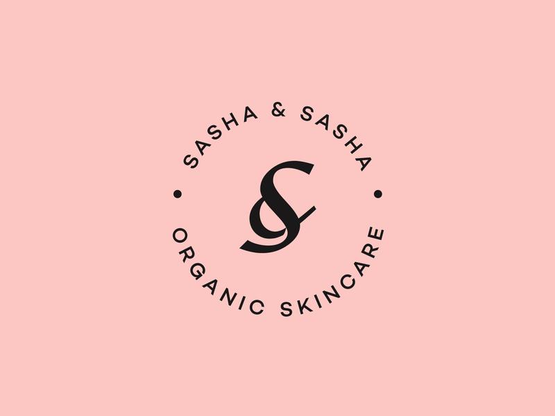 Sasha & Sasha Emblem luxury crest s monogram s letter bold effendy typography logotype fashion simple s cosmetic skincare organic amspersand branding identity logo badge emblem