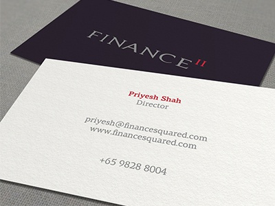 finance ii business card by muhammad ali effendy dribbble