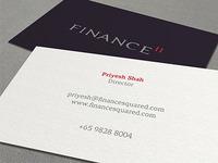 FINANCE II Business Card