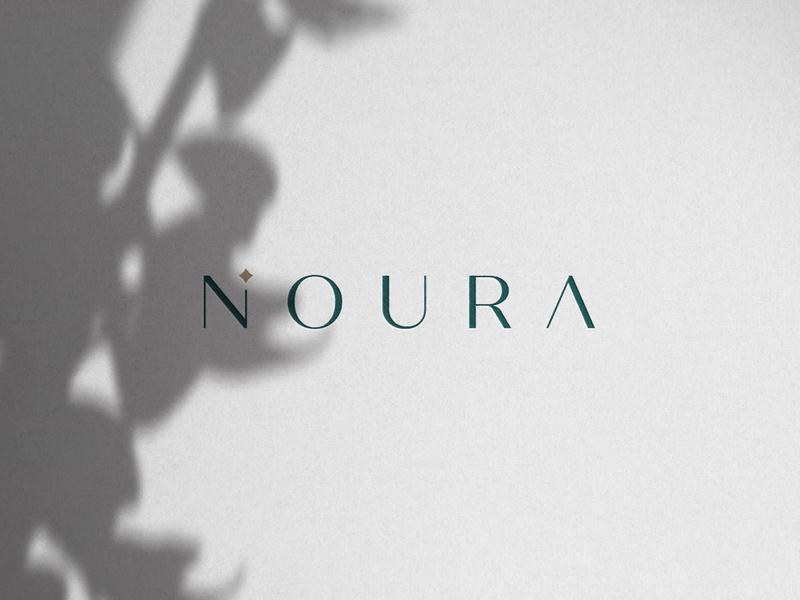 NOURA - 1st Proposal abaya hijab feminine identity logotype wordmark typography effendy branding brand identity womenswear luxury box mockup packaging monogram n logo noor noura light symbol