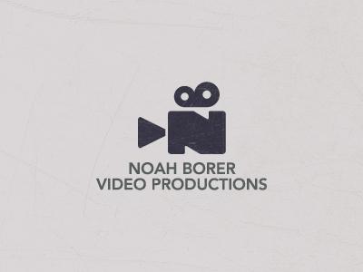 Noah Borer Video Productions FINAL logo video videography ali noah borer effendy moviemaking reel videocamera camera moviecamera intials textured texture mark productions identity symbol n b elegant