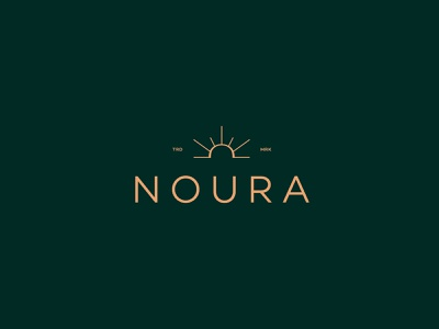 NOURA - 3rd Proposal logotype sunrise brand identity wordmark hijab feminine burkinis light noor womenswear typography luxury logo fashion logo branding elegant effendy box mockup noura luxury mark