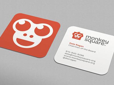 Monkey Square Business Card print .net open-source monospace monkey square ali effendy business card visiting card 2x2 stationery branding organization card identity ecosystem development platform sean brandclay farrell