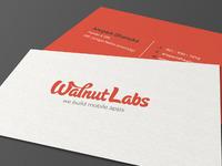 Wallnut labs biz card mockup