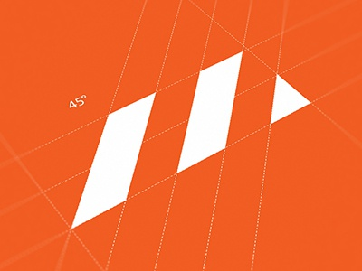 M Grids grids guidlines ali effendy construction mark abstract logo