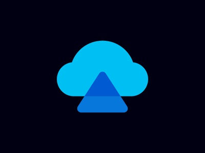 Cloud Ace Logo monochrome transparency abstract icon data logo cloud computing cloud storage modern logo cloud logo triangle branding clever logo arrow logomark mark symbol identity logo