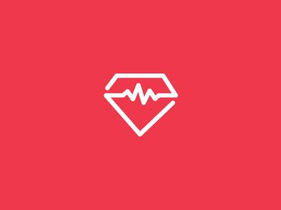 Diabetes Logo ipad diabetics monoline icon ui ios app monitor diabetes book logs diamond symbol mark effendy ali logo wave pulse