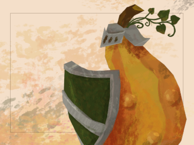 Gourd Yourself autumn fall knight warrior gourd character character concept design illustration