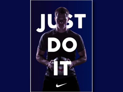 Nike poster design photoedit. gimp graphicdesign nike design poster