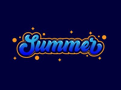 Type summer text summer type text illustrator