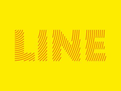 Line line illustrator text tipography