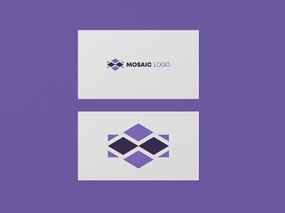 Mosaic logo typography branding vector text design logo