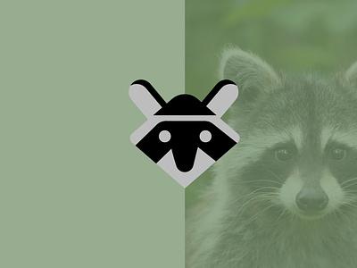 Logo raccon creative draw vector logo design