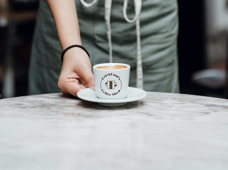 Pete&Paul's Coffee Shop coffeeshop coffee logo branding graphicdesign photoshop