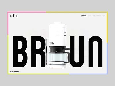 BRAUN - UI/UX Design - Webdevelopment graphic design motion graphics animation rendering render 3d blender coffee ui design webdesign ux