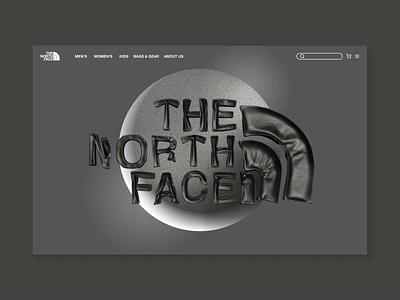 THE NORTH FACE - UI/UX Design - Motion Design graphic design motion graphics animation 3d motion design the north face fashion ui design webdesign ux