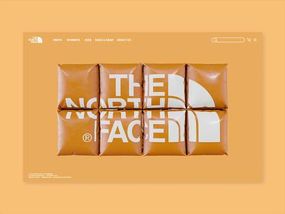 THE NORTH FACE - UI/UX Design - Motion Design onlineshop transition animation motion design motion graphics blender 3d fashion shop ui design webdesign ux
