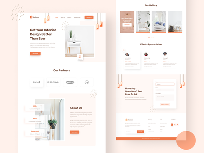 Interior landing page v 2 creative landing page design creative landing page interior decor website ui design website ui web design ui design modern landing page modern ui minimal ui minimal landing page landing page design landing page interiordesign clean ui agency website agency landing page
