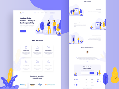 Delivery landing page landing page illustration creative landing page design creative landing page website ui design website ui web design ux design ui design modern landing page landing page design landing page clean ui agency website agency landing page