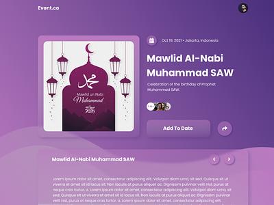 Mawlid Al-Nabi | Web UI Design design ux ui