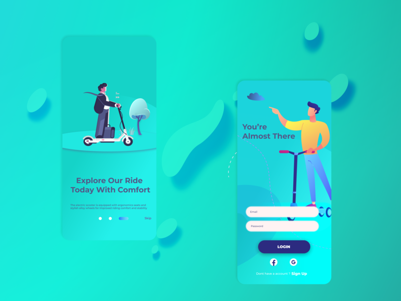 Neuron E-scooter rental app concept