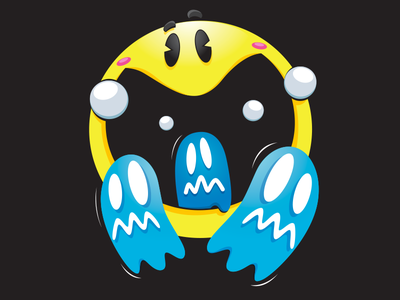 Picture of Pac Man arcade art vector illustration retro arcade illustration pacman arcade midway