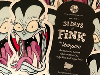 Vampire sticker (fink inspired)