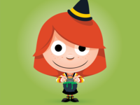 Trick or Treat Day 12 - A Candy Corn Witch
