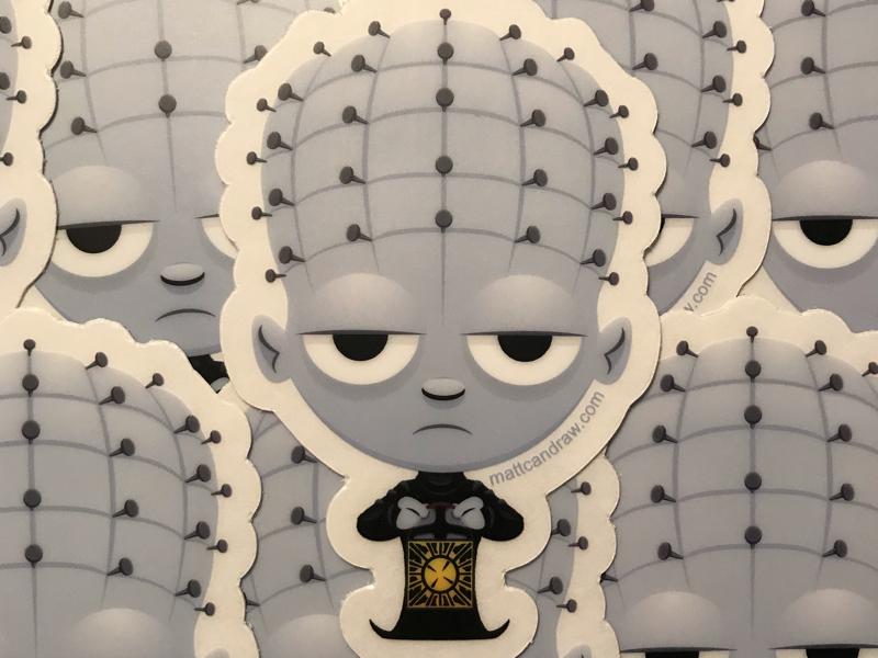 Lil Hellraiser sticker design illustration commercialillustration vectorillustration vector-art digital illustration not so scary halloween digital art cute halloween character design trick or treat vector illustration pinhead cute horror clive barker hellraiser doug bradley cute art vector art stickers