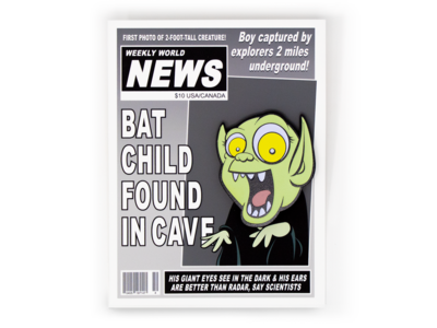 Batboy pin and backer
