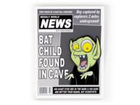Batboy pin and backer