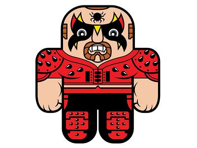 WWF Road Warriors Animal vectorillustration design digital art character design vector illustration vector art cute art illustration wrestling