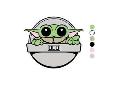Baby Yoda childrens book digital art cute character design vector illustration illustration cute art vector art cute scifi baby yoda yoda starwars