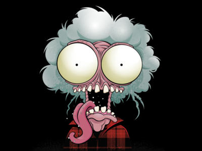 Large Marge cute horror design not so scary halloween digital art character design vector illustration vector art illustration pee wees big adventure tim burton large marge pee wee herman