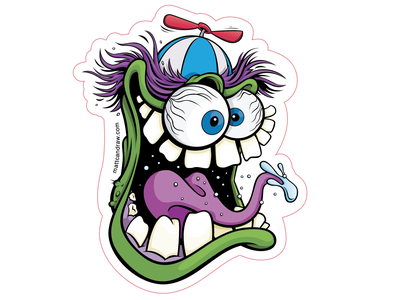 Ratfink inspired Sticker Design not so scary halloween halloween trick or treat digital art illustration vector illustration vector art sticker art sticker nuttymads weirdohs ratfink monster art