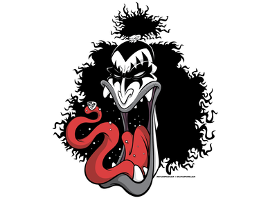 KISS - Gene Simmons vector branding design vectorillustration halloween vector art character design vector illustration illustration pop culture metal music rock music