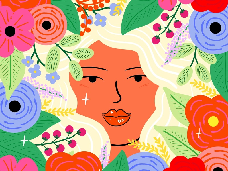 Flowers colourful character design flowers fashion illustration illustration art illustration illustator