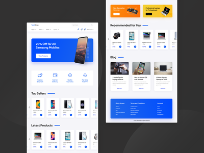 Techshop UI Design store device electric technology uidesign shop ecommerce design ui