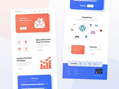 Email Marketing Website UI Design marketing email marketing email web design web website design website uiuxdesign uiux uidesign ui