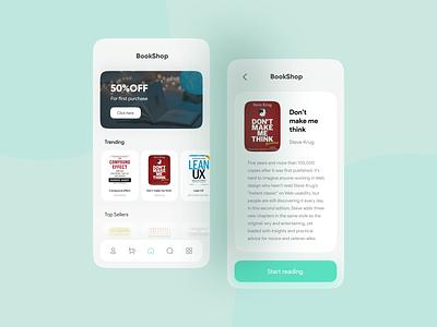 BookShop app concept design bookapp app design bookshop book uidesign ui
