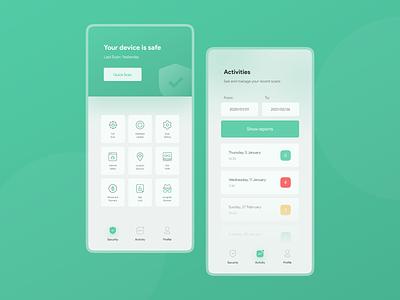 Antivirus app concept UI design antivirus app security system security app shield privacy security antivirus application app design design app uidesign ui