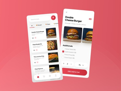 Food Delivery App UI delivery ui food ui red gradient gradient red tabs food app food delivery delivery food application app design app uidesign ui