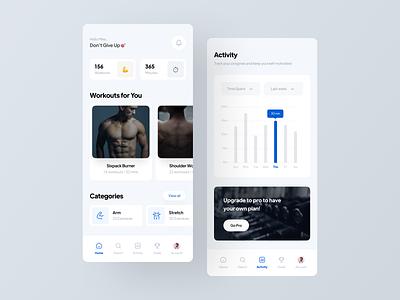 Smart Fitness App app design app uidesign ui