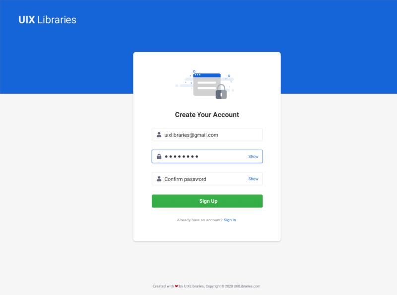 Signup Registration Page Design