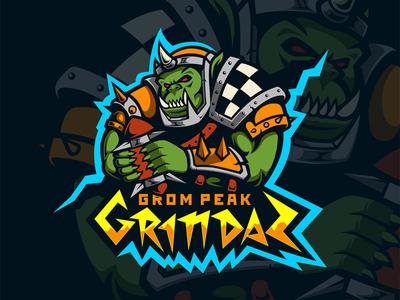 Grom Peak Grindaz eSports Logo logo mascot logo mascotlogo mascot design mascot esports esportlogo design esport