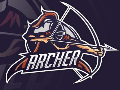 """Archer"" eSports Logo archer logo esport mascot logo mascotlogo mascot design mascot esports esportlogo design"